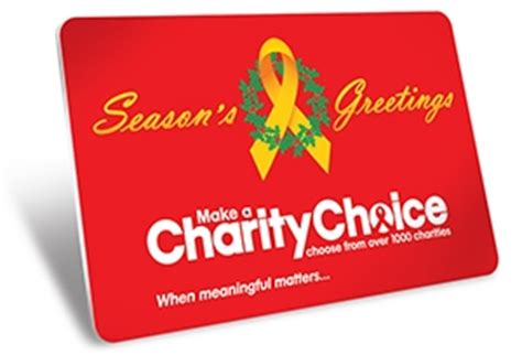 Pick Your Charity Gift Cards - giving charity gift cards for presents lets recipients donate to their favorite causes