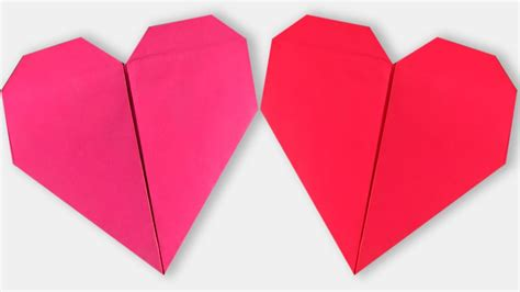 Make Paper Hearts - how to make an origami step by step paper
