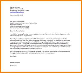 closing statement cover letter 5 cover letter closing statements exles