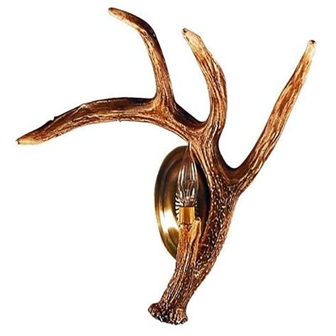 Antler Wall Sconce Whitetail Deer Right Antler Wall Sconce W1s Right
