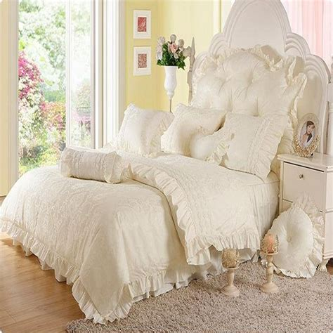 romantic comforter sets king romantic flower lace bedspread princess bedding set queen