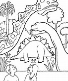 Dinosaur Print Coloring Pages
