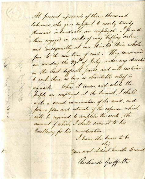 Invitation Letter Unimelb Richard Griffith Skibbereen Schull Crookhaven West Carbery 1822 West Cork History