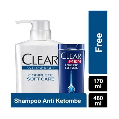 Harga Sho Dove Anti Ketombe by Jual Clear Sho Anti Ketombe Complete Soft Care 480 Ml