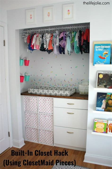 Closetmaid Pieces Built In Closet Hack For Bubbles Nursery Using
