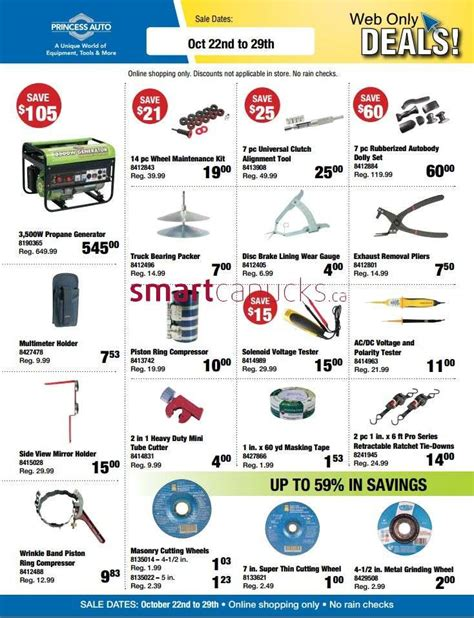 Online Auto Shopping by Princess Auto Online Shopping Flyer Oct 22 To 29