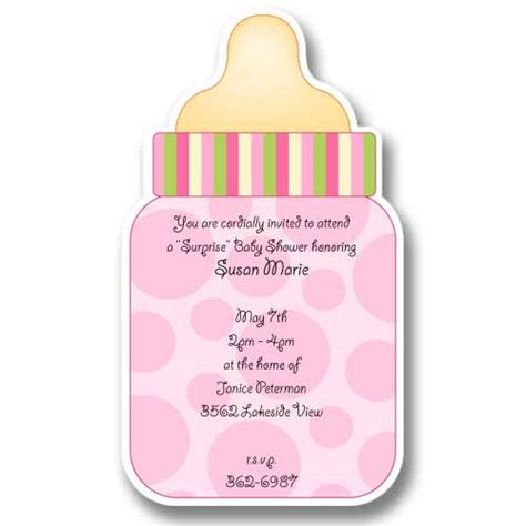 Bottles For Baby Shower by Pink Baby Bottle Baby Shower Invitations Baby Cachet