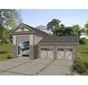 RV Garage Plans  Plan With Attached 2 Car Design