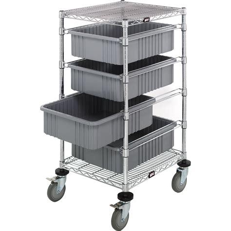 Storage Bin Cart Quantum Storage Bin Cart With Dividable Grids 24in L X