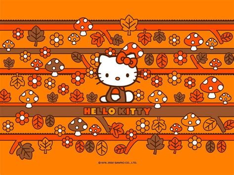 hello kitty thanksgiving wallpaper desktop hello kitty fall wallpapers wallpaper cave