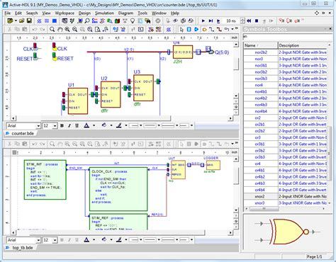 state diagram editor active hdl designer edition fpga simulation products