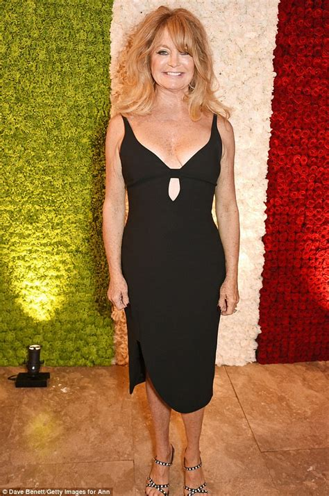 Goldie Black goldie hawn dons black dress at annabel s daily mail