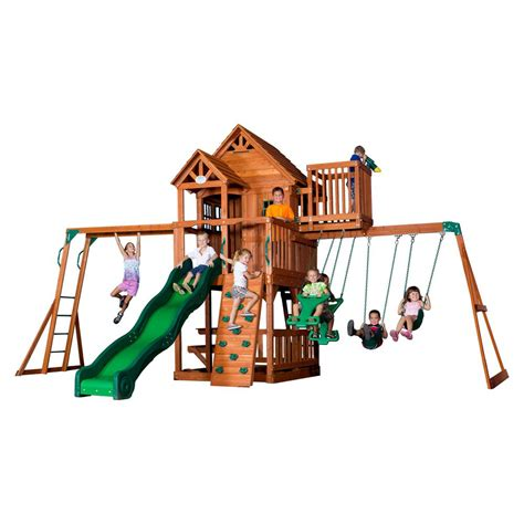 backyard discovery skyfort ii all cedar playset 6113com