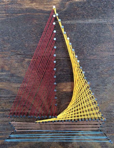 Sailboat String - 12 x 12 sailboat wall string on etsy 21 99