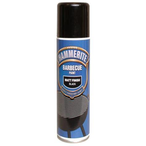 matt black hammerite hammerite bbq paint aerosol black matt 400ml