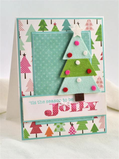 Tree Handmade Cards - 3 d felt tree card hgtv