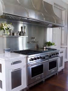 stainless steel backsplash stove stainless steel kitchen design ideas
