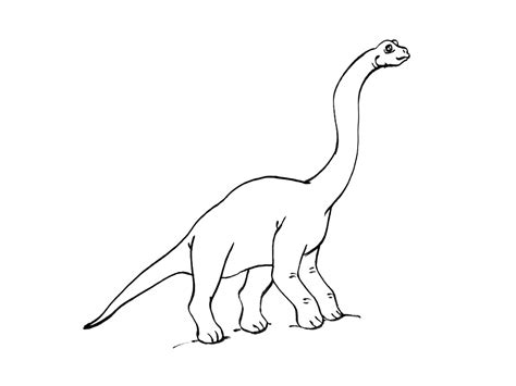 diplodocus dinosaur coloring pages