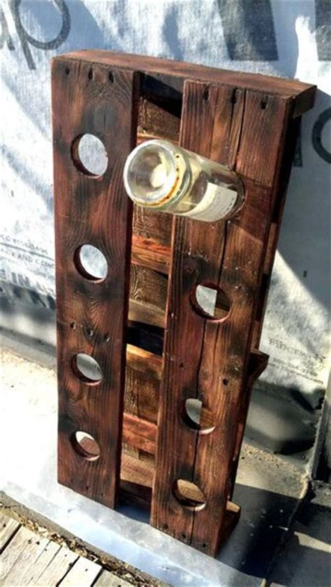 Wine Rack Made From Wooden Pallets by Wine Rack Made From Wooden Pallets Pallets Designs