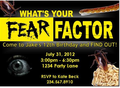 top 10 fear factor birthday party games