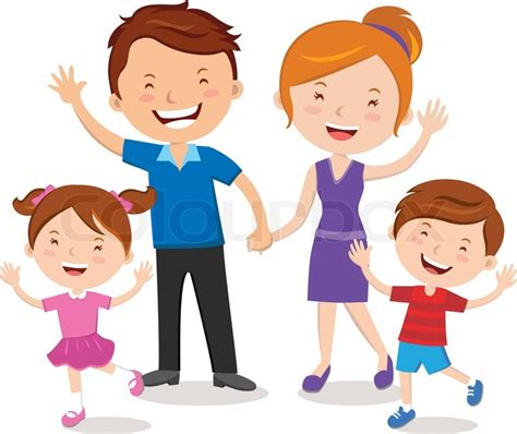 Smile Black Anak happy family gesturing with cheerful smile stock vector