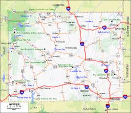 Map Of Wyoming State by Wyoming State Road Map Images