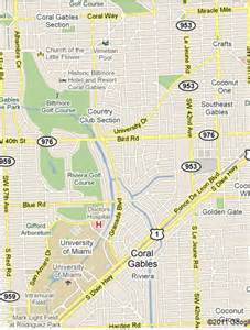 map of coral gables florida cus canes coral gables