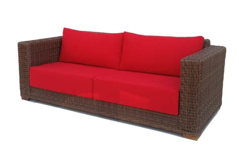 outdoor wicker sofas patio wicker sofa santa barbara