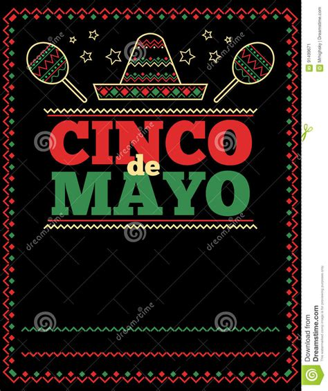 Cinco De Mayo Poster Template Cartoon Vector Cartoondealer Com 91499671 Cinco De Mayo Template