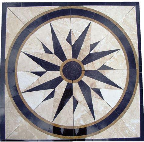 tile floor medallion marble mosaic north star design 34