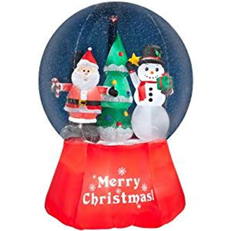 amazon com gemmy inflatable airblown snow globe with