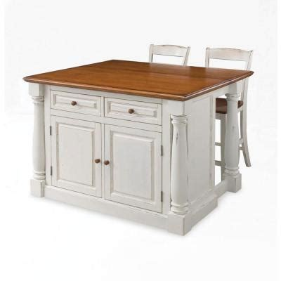 home styles monarch kitchen island in white with oak top