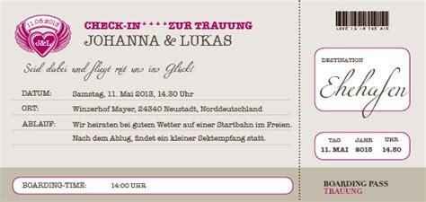 Hochzeitseinladung Flugticket Vorlage by Weltenbummler Flugticket Boarding Pass Hochzeitseinladung