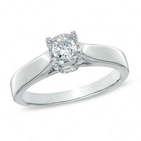 1 2 ct t w engagement ring in 10k white gold