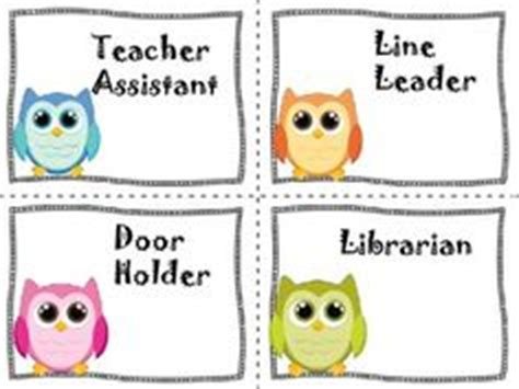 owl printables for classroom 1000 images about classroom jobs and printables on