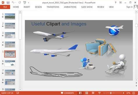 Animated Airport Powerpoint Templates Airport Powerpoint Template