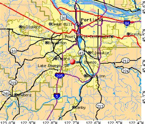 map of oregon lake oswego lake oswego oregon or profile population maps real