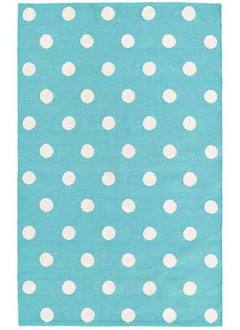 Aqua Lotsa Polka Dots Rug Decor By Color Polka Dot Rug