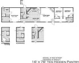 Clayton Single Wide Mobile Homes Floor Plans Clayton Homes Yes Series The Hidden Pantry 16x76 3ph