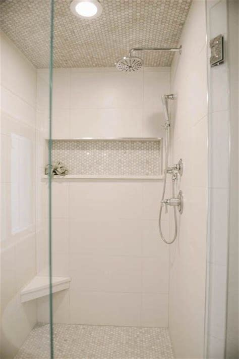 Bathroom Tile Ideas White 25 Best Ideas About White Tile Shower On Pinterest Master Bathroom Shower Large Tile Shower