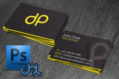 business card in photoshop how to design