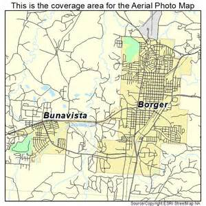 aerial photography map of borger tx