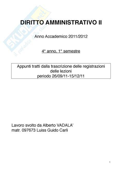 dispensa diritto amministrativo concetti di diritto amministrativo ii
