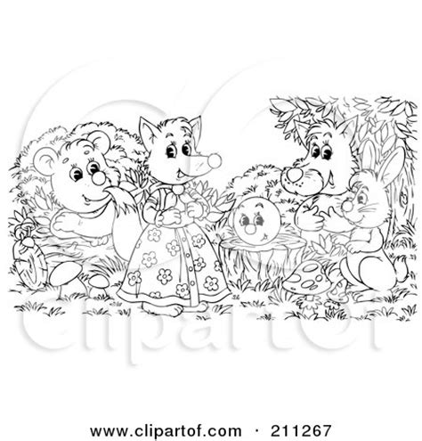 group of animals coloring page royalty free wolf illustrations by alex bannykh page 1