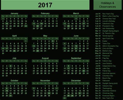 printable calendar 2017 usa free printable calendar 2017 usa 2017 calendar with holidays