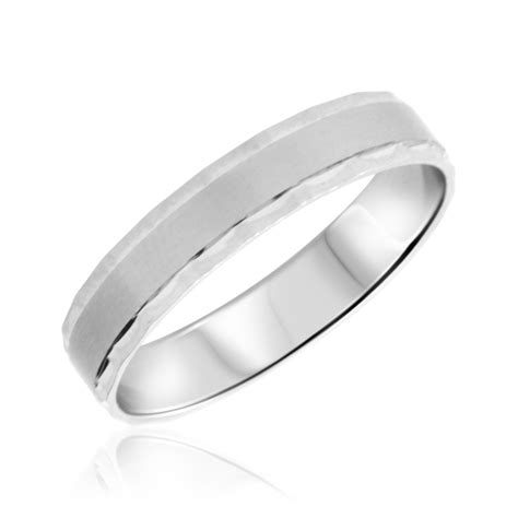Wedding Bands White Gold by No Diamondstraditional Mens Wedding Band 10k White Gold