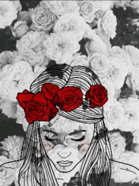 imagenes rojas tumblr dibujo rosa tumblr