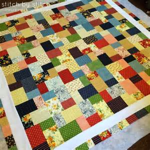 stitch by stitch slice layer cake quilt