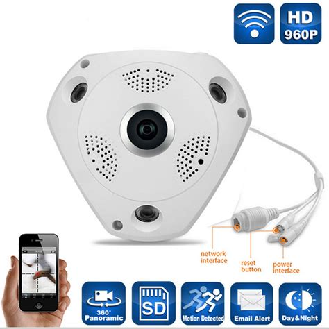 360 Degree 4 Mode Live Vr Ip Cctv 3d 960p 13mp 1 360 176 panoramic wifi security surveillance vr 3d budgetmart