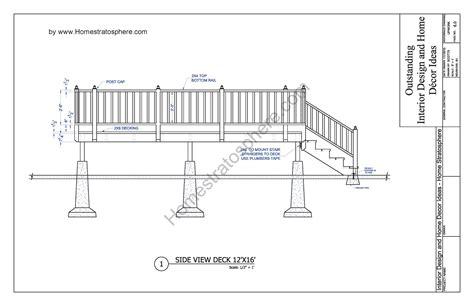deck plan blueprint  document framing plans